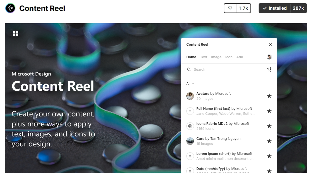 Content Reel To replace ordinary dummy content, first select one or more layers in your template file