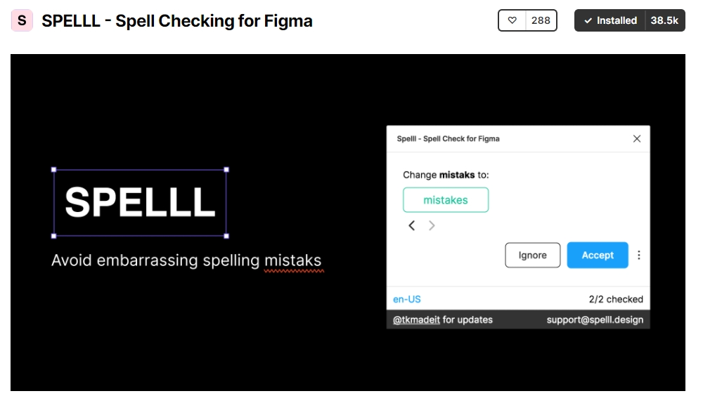Spelll is a straightforward spell search plugin for Figma