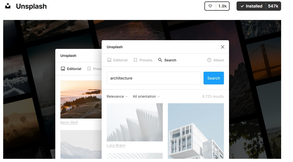 Unsplash is the Best Figma Plugins for photos